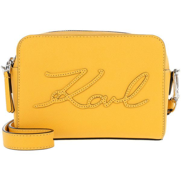 K/Signature Essential shoulder bag - Yellow & Orange Karl Lagerfeld Low Shipping Fee Prices Cheap Online Cheap Sale 2018 Unisex irfqH