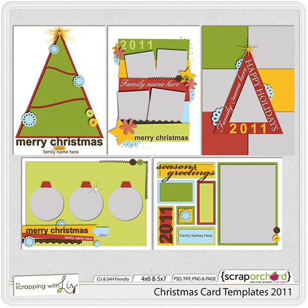 Scrapping with Liz: Christmas Cards!