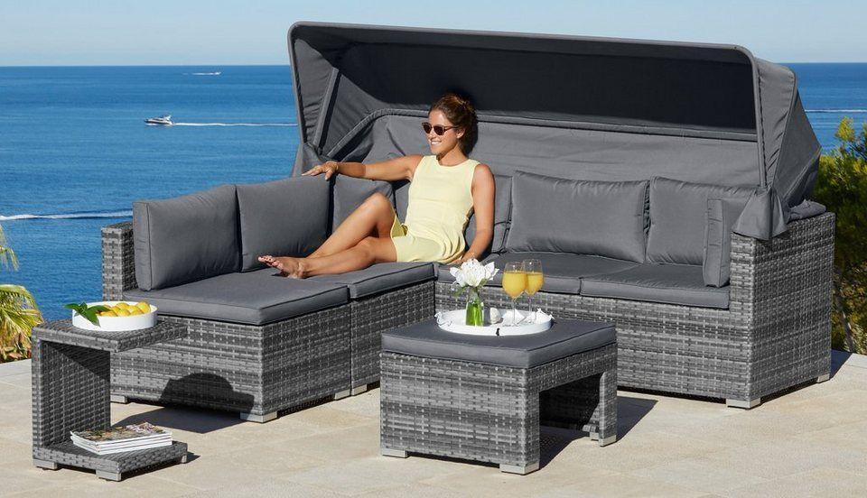 Konifera Loungebett Atlanta Gestell Aus Hochwertigem Stahl Online Kaufen Otto Loungebett Gartenmobel Design Rattan Lounge Mobel