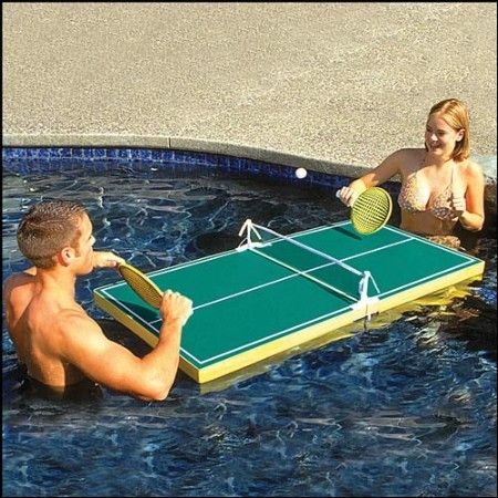 Ping Pong in The pool cool