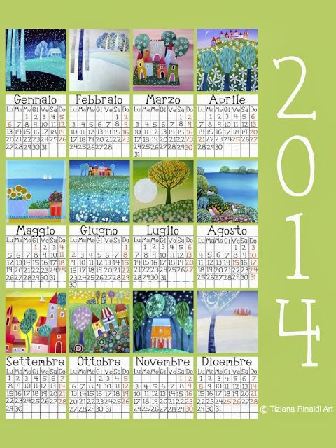 Tiziana Rinaldi Art - the t time: 704 - Il mio calendario: un dono per voi