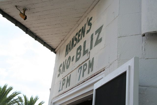 How to order like a pro at New Orleans' famous Hansen's Sno-Bliz!: Hansen's is housed in a fairly nondescript building. You'll recognize it by the hand-painted signs and the line stretching out the door.