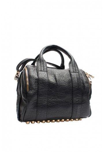 Mini Black Sdy Handbag With Studded Bottom Wishlist