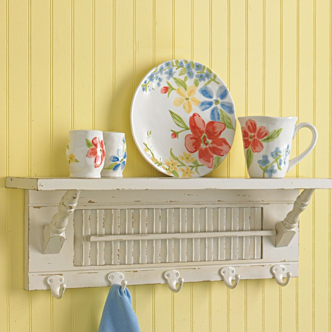 Shutter wall decor | Home > Southport Shutter Shelf & Wall Hooks ...