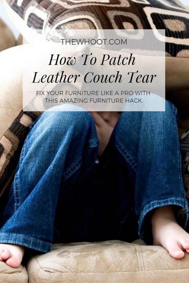 How to patch leather couch tear video with images