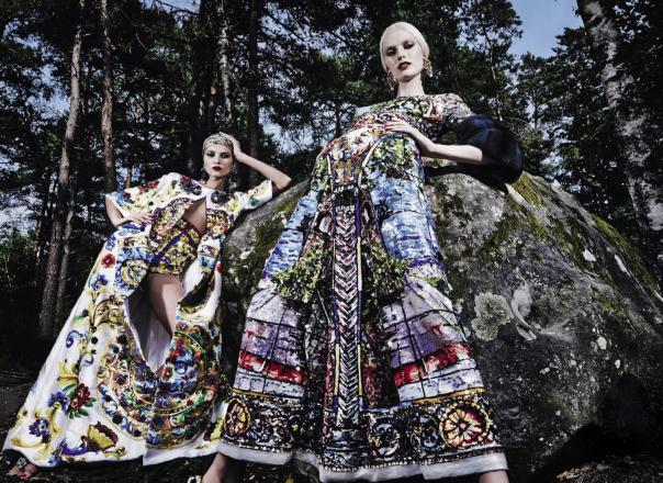 Vogue Italia September 2014, Models: Vika Falileeva, Siri Tollerød & Helena Greyhorse, Photographer: Steve Hiett; Fashion Editor: Robert Rabensteiner
