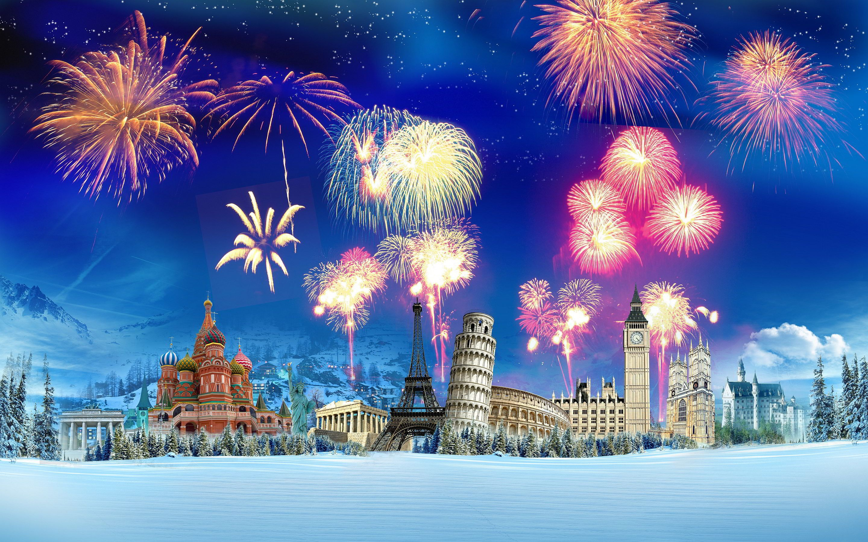 2880x1800 New York Fireworks A New Year S Eve Wallpaper Happy New Year Wallpaper New Year Pictures