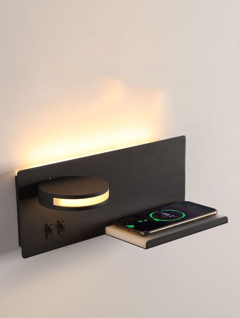 led reading light bedside wall lamp