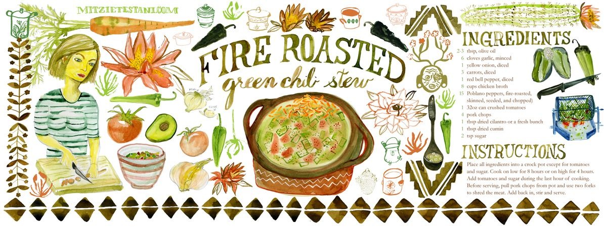 Green Chili Stew by Mitzie Testani