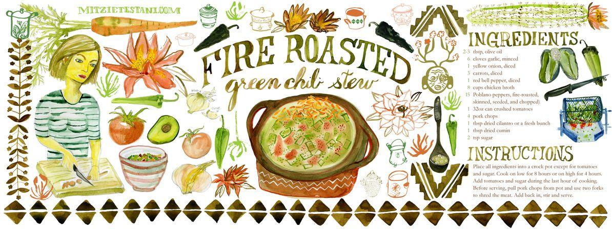 Green Chili Stew by Mitzie Testani