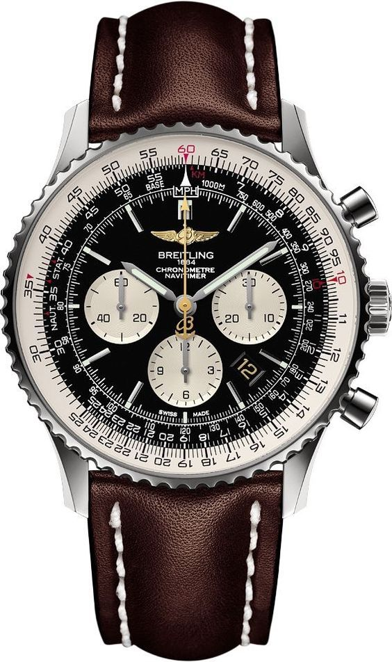 f32a7b9daf5 New Breitling Navitimer World GMT Mens Luxury Watch Relógios Masculinos