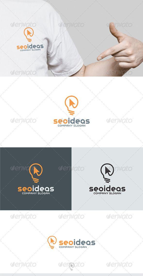 Seo Ideas Logo — Vector EPS #lamp #development • Available here → https://graphicriver.net/item/seo-ideas-logo/6334244?ref=pxcr
