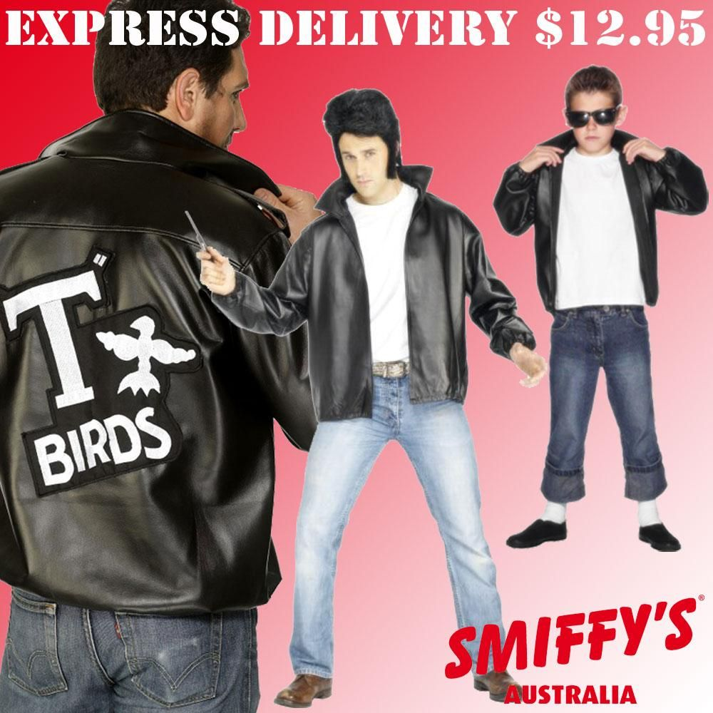 T BIRDS 1950/'s THEME FANCY DRESS GREASE IS THE WORD MENS WOMENS T SHIRT