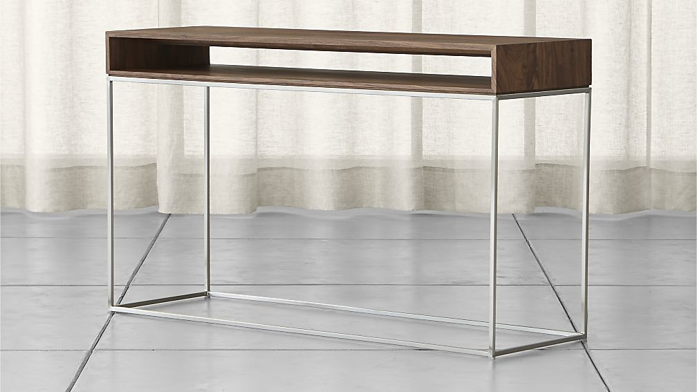 Frame Console Table Crate And Barrel Console Table Square