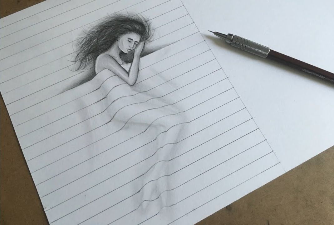 Как нарисовать триде картинку для начинающих, картинки