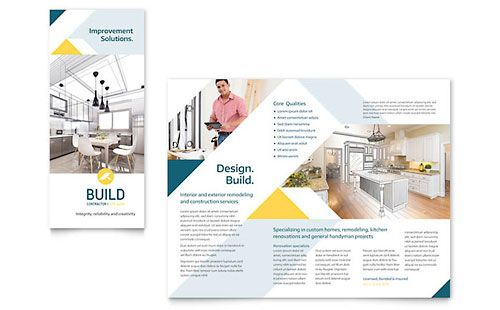 Contractor Tri-Fold Brochure Template Trifold Brochure Pinterest - free tri fold brochure templates for word