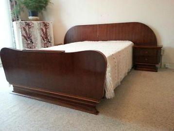 Jaren 50 bed Vintage Retro Pastoe Palissander