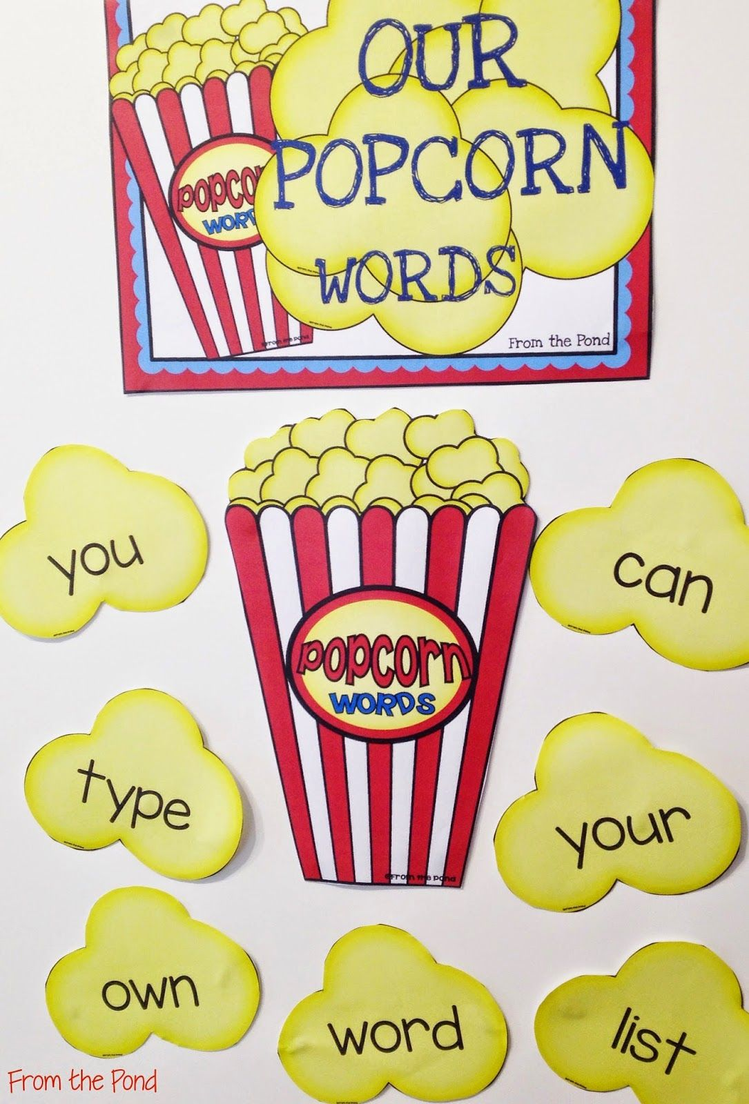 Editable Popcorn Words Wall For Sight Words