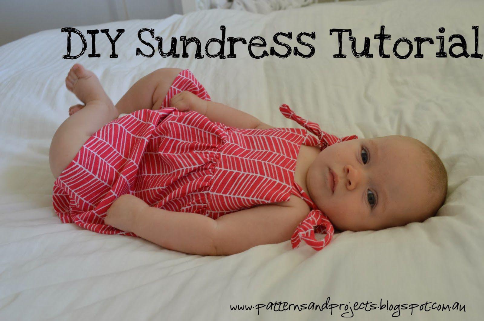 Patterns & Projects: DIY Sundress Tutorial (6-12M)