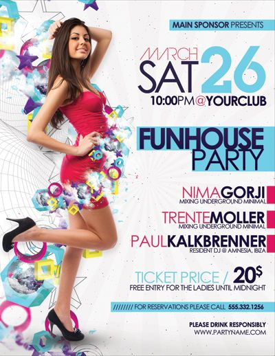 Funhouse Party Flyer Poster By Outlawv15.Deviantart.Com On