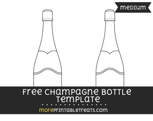Free Champagne Bottle Template - Medium | Shapes and Templates ...