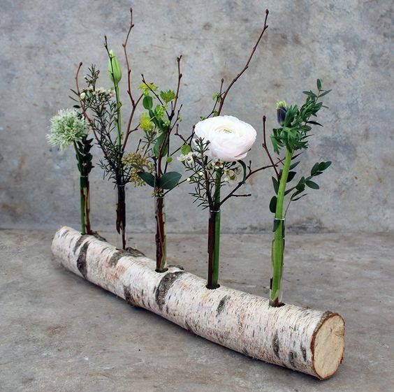 Photo of Use a birch trunk as a vase. There are white birch trunks here birch-doc … – Patricia Lemonnier – Daily Pin Blog