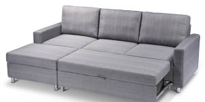 New L shape sofa bed with storage