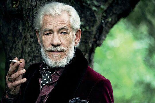 Sir Ian mckellen great velvet jacket