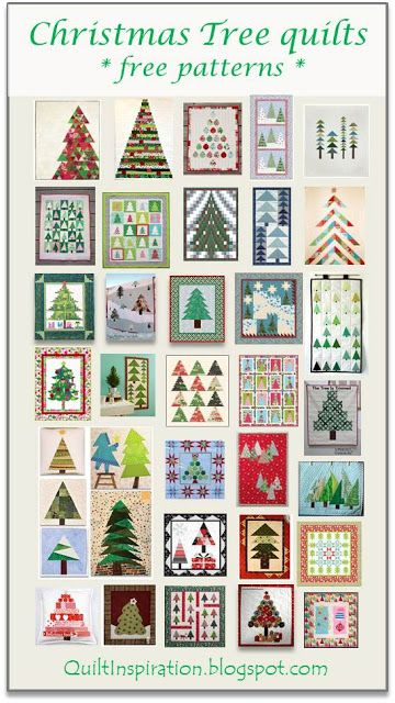 Free pattern day: Christmas quilts - trees! Updated April, 2016 ... : christmas quilt projects small - Adamdwight.com