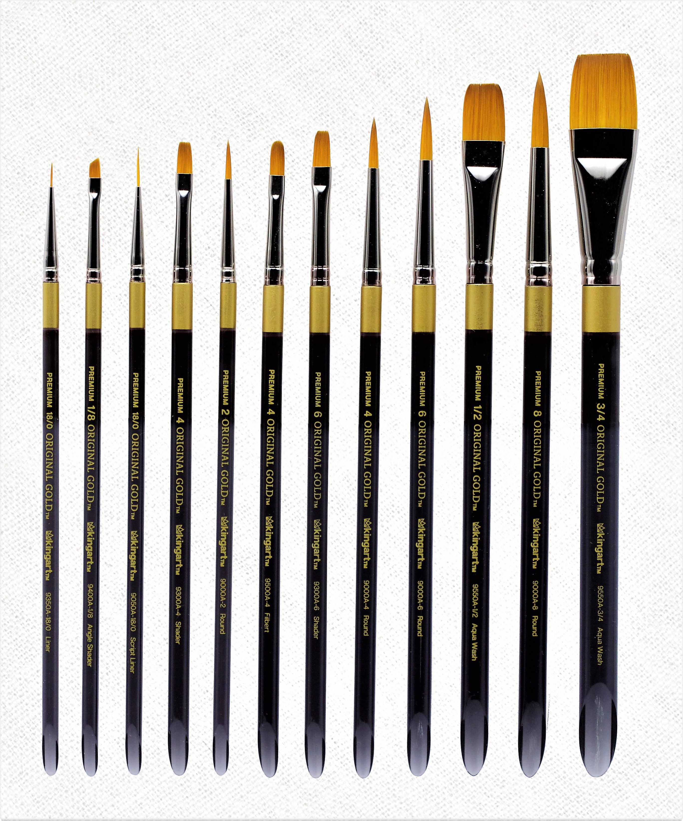 Winsor /& Newton Foundation WHITE Brush Set of 6 For Artists Oil /& Acrylic Paint