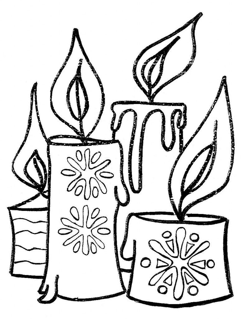 Velas-de-navidad-para-colorear.jpg (777×1024) | deberes | Pinterest ...