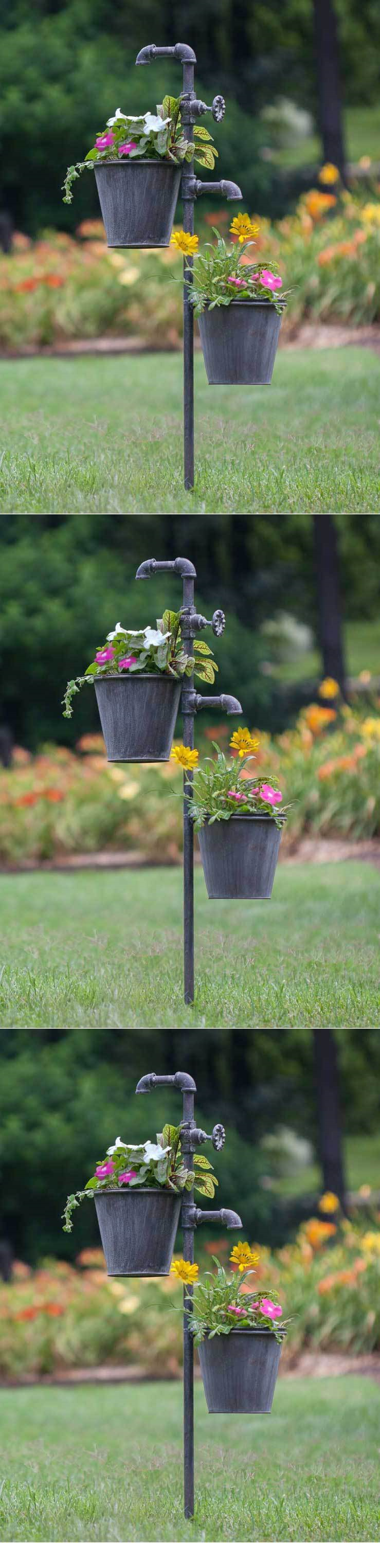 Plant Hooks and Hangers 134671: Flower Garden Stakes Metal ...
