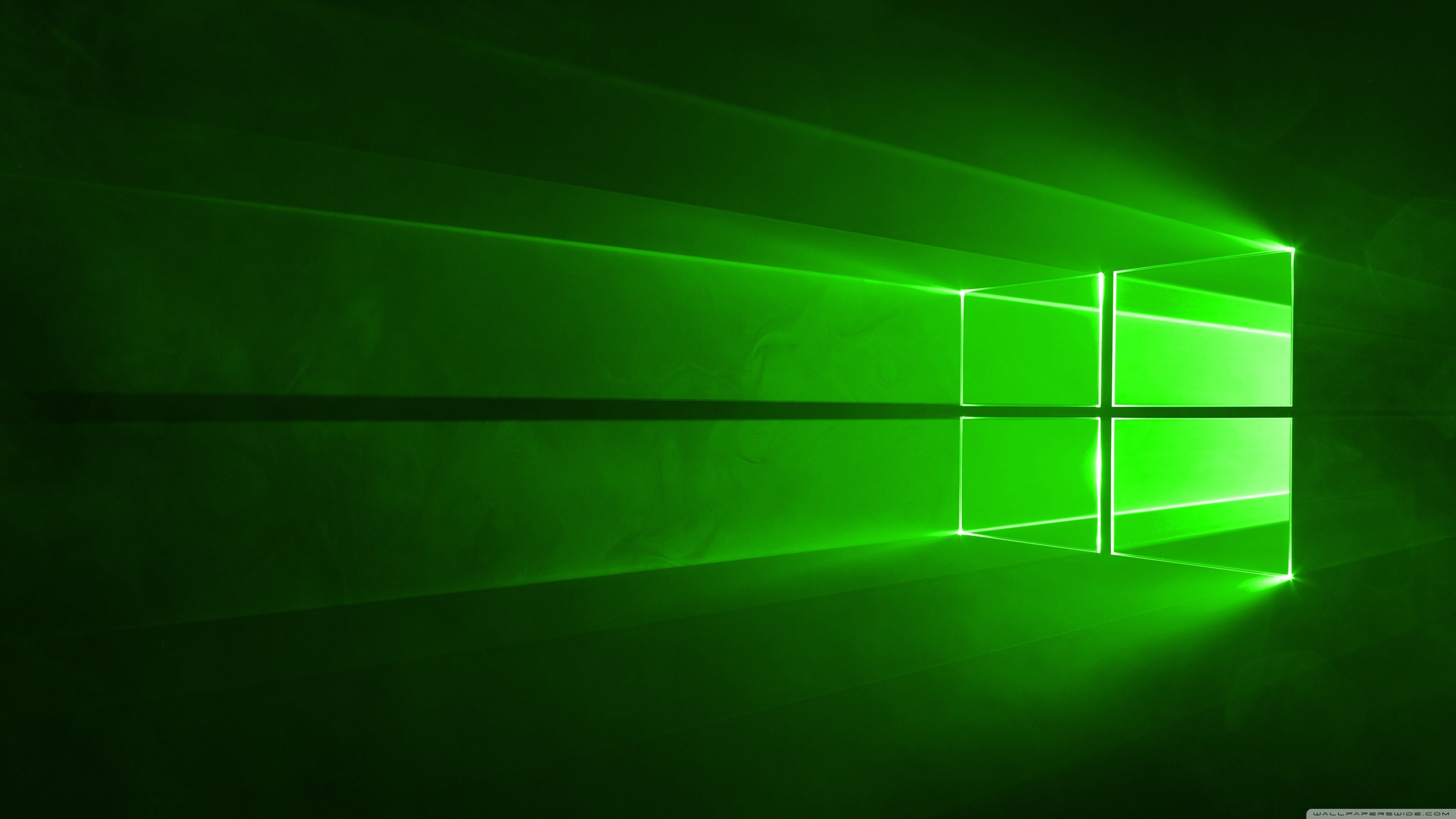 3840x2160 Windows 10 Green HD Wide Wallpaper for