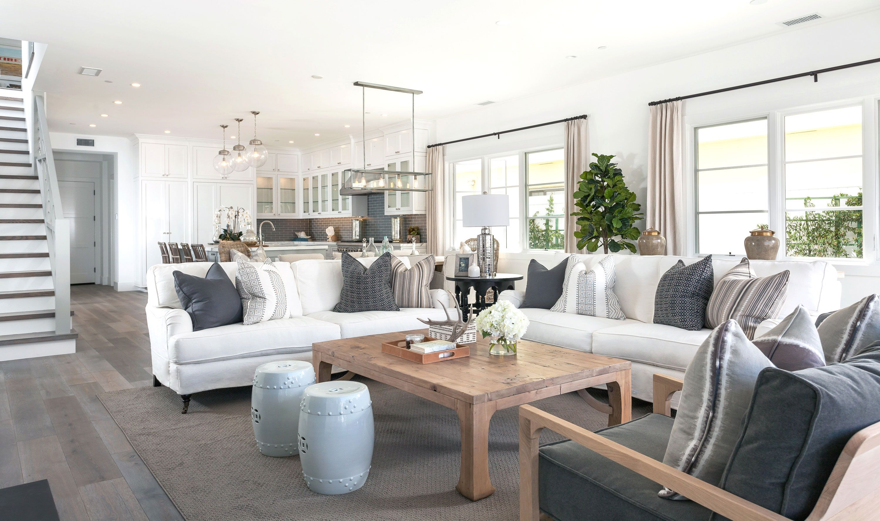 Best Project West Bay Reveal Coastal Living Rooms Modern 400 x 300