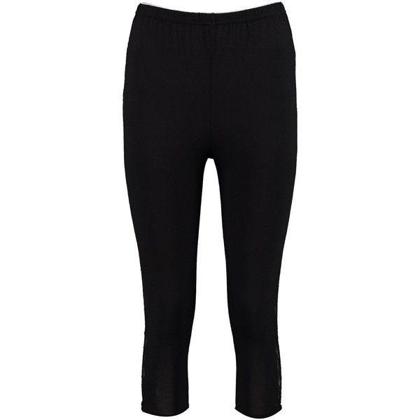 Boohoo Freya Lace Side 3/4 Jersey Leggings | Boohoo ($9) ❤ liked on Polyvore featuring pants, leggings, jersey pants, jersey leggings, elastic waistband pants, lace trousers and elastic waist pants