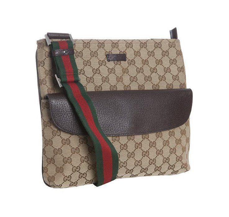 a4172eaf306 Gucci beige GG canvas crossbody messenger bag