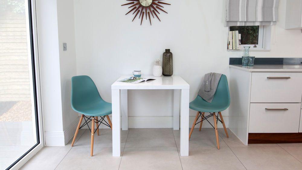 Fern White Gloss Kitchen Table  Contemporary Kitchen Tables Entrancing Contemporary Kitchen Chairs Design Ideas