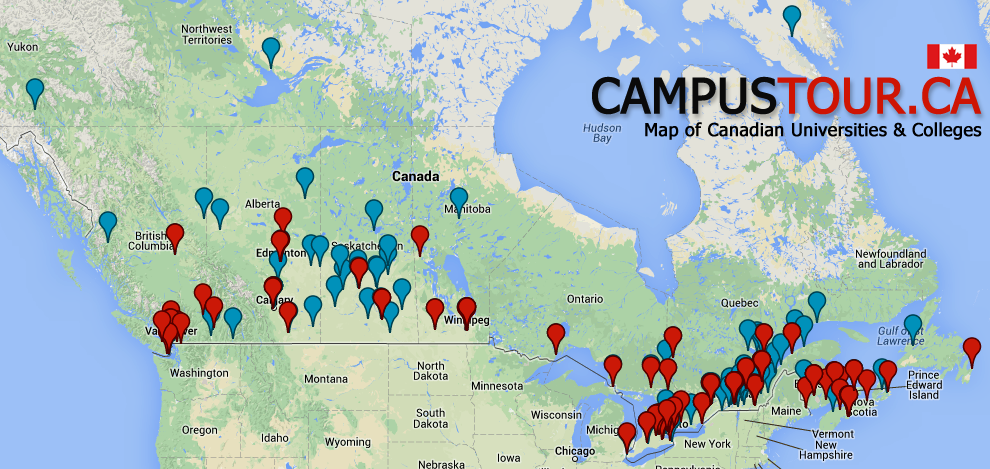 Map Of Canada College map of canada showing universities   Google Search | Canadian