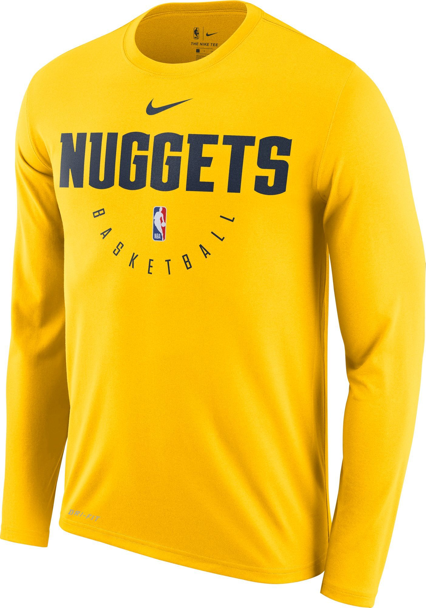 on sale 0afb8 1ea34 Nike Men s Denver Nuggets Dri-FIT Practice Long Sleeve Shirt, Size  XXL,  Team