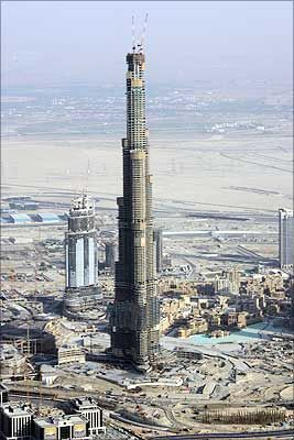 Burj Dubai is the world's tallest building once completed.