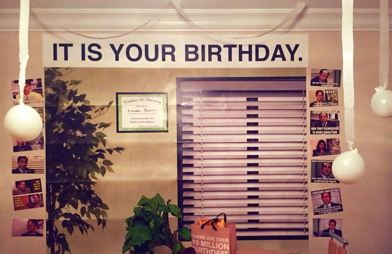 the office birthday party theme  u2026