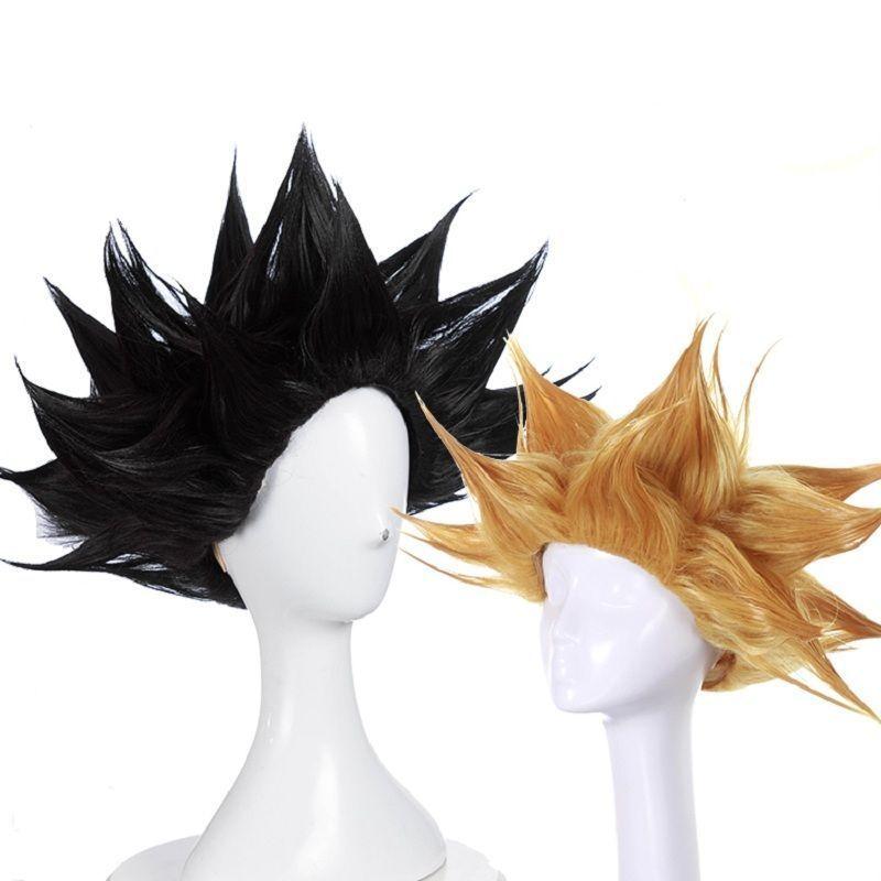 free wig cap Fashion Dragon Ball Z Cosplay Wig Goku wigs Anime hair wig.