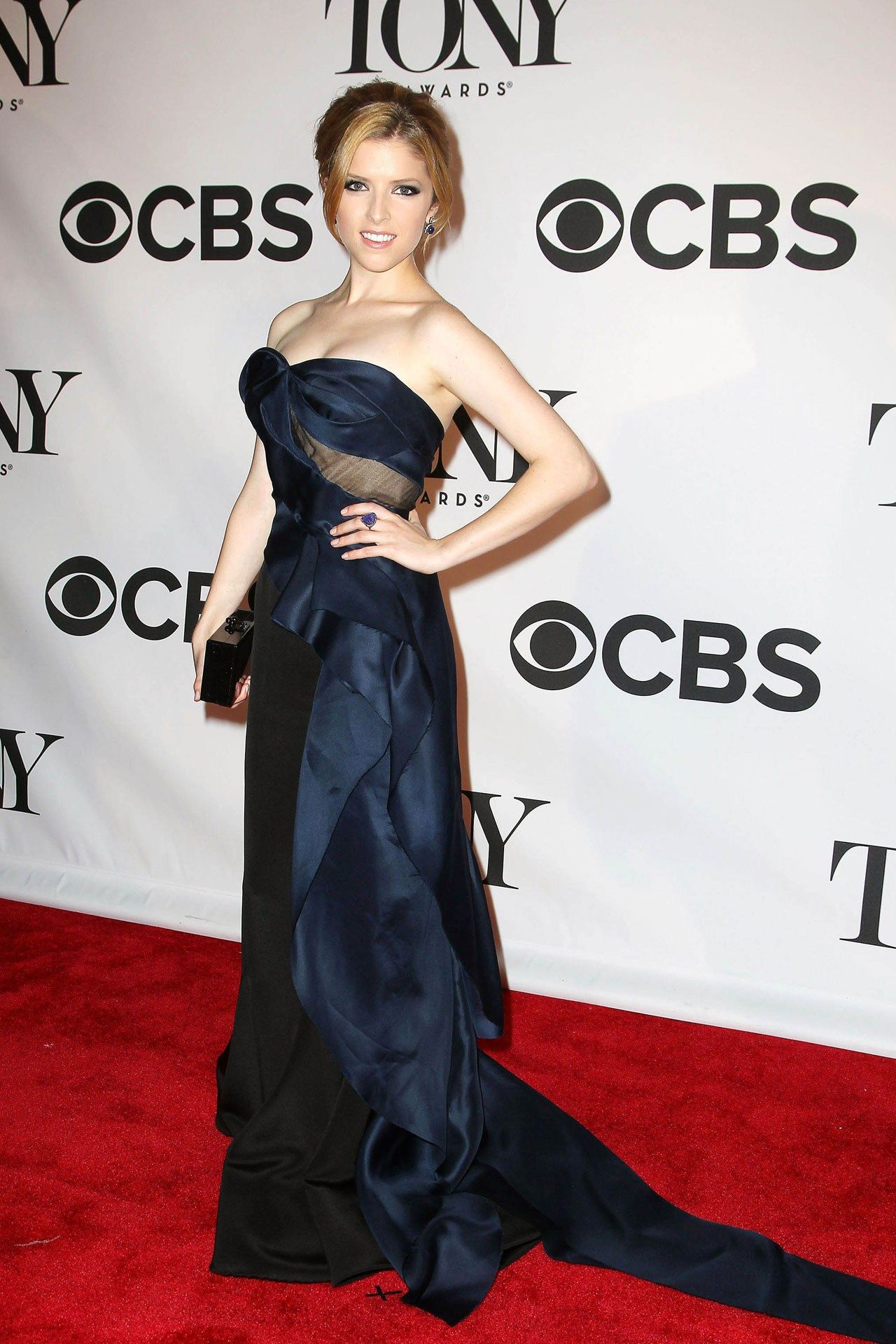 Anna Kendrick wore a Donna Karan Atelier dress with jewellery by Amrapali.