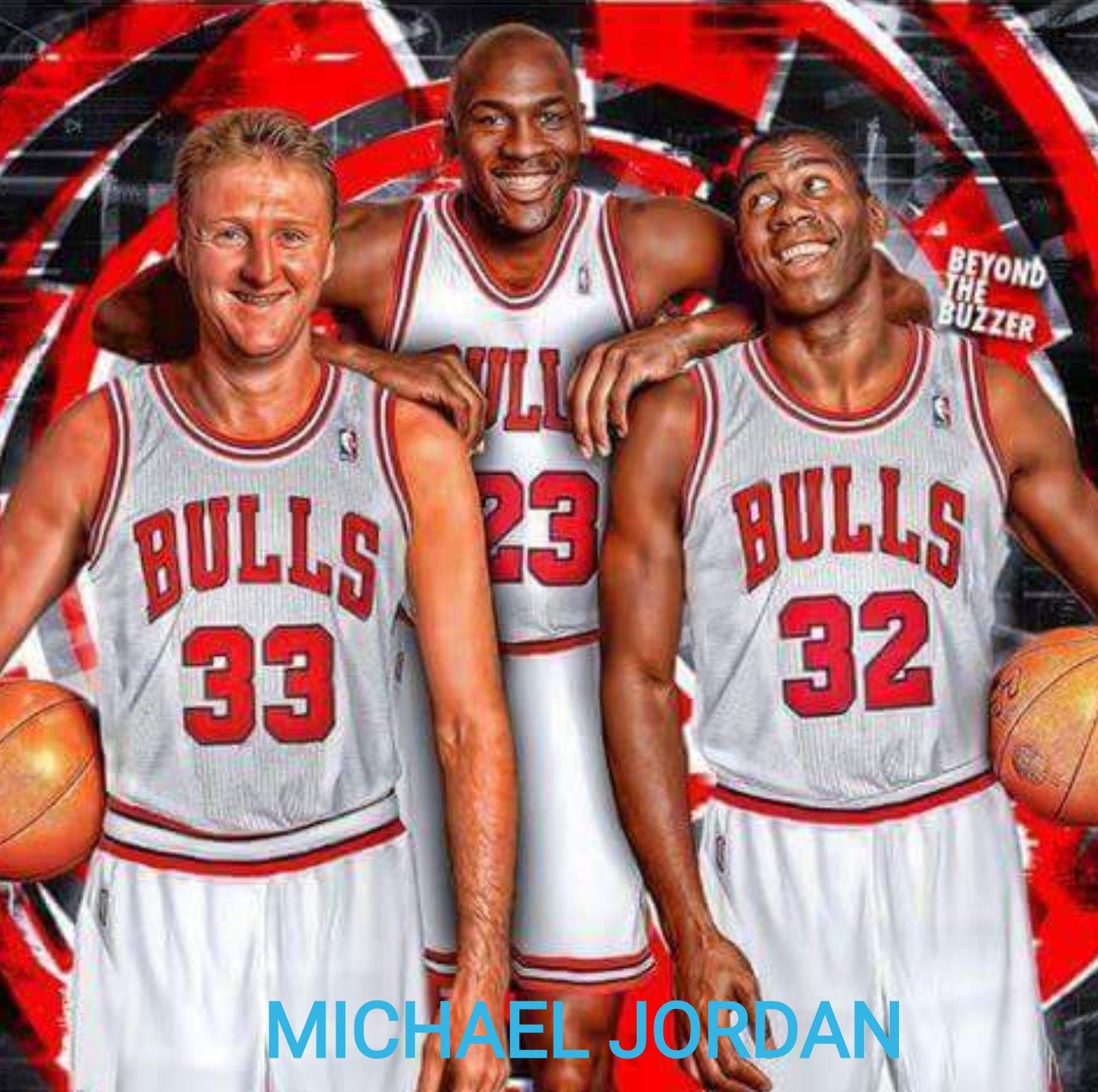 buy online 2d488 3b766 MICHAEL JORDAN Larry Bird and Magic Johnson