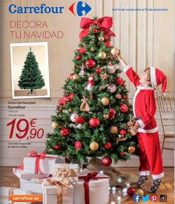 Catalogo Carrefour Adornos y Arboles para Navidad 2014 Espaa