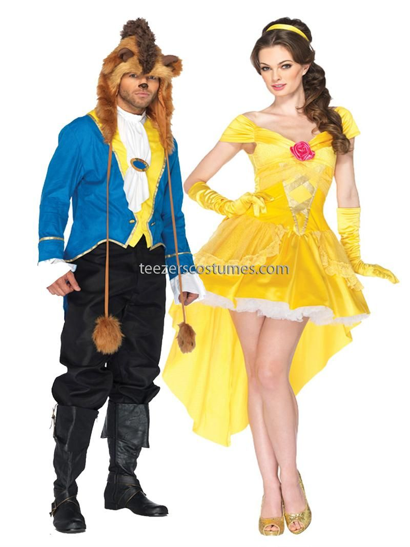Belle and Beast Adult Couples Costume, Couples Costumes, Disney ...