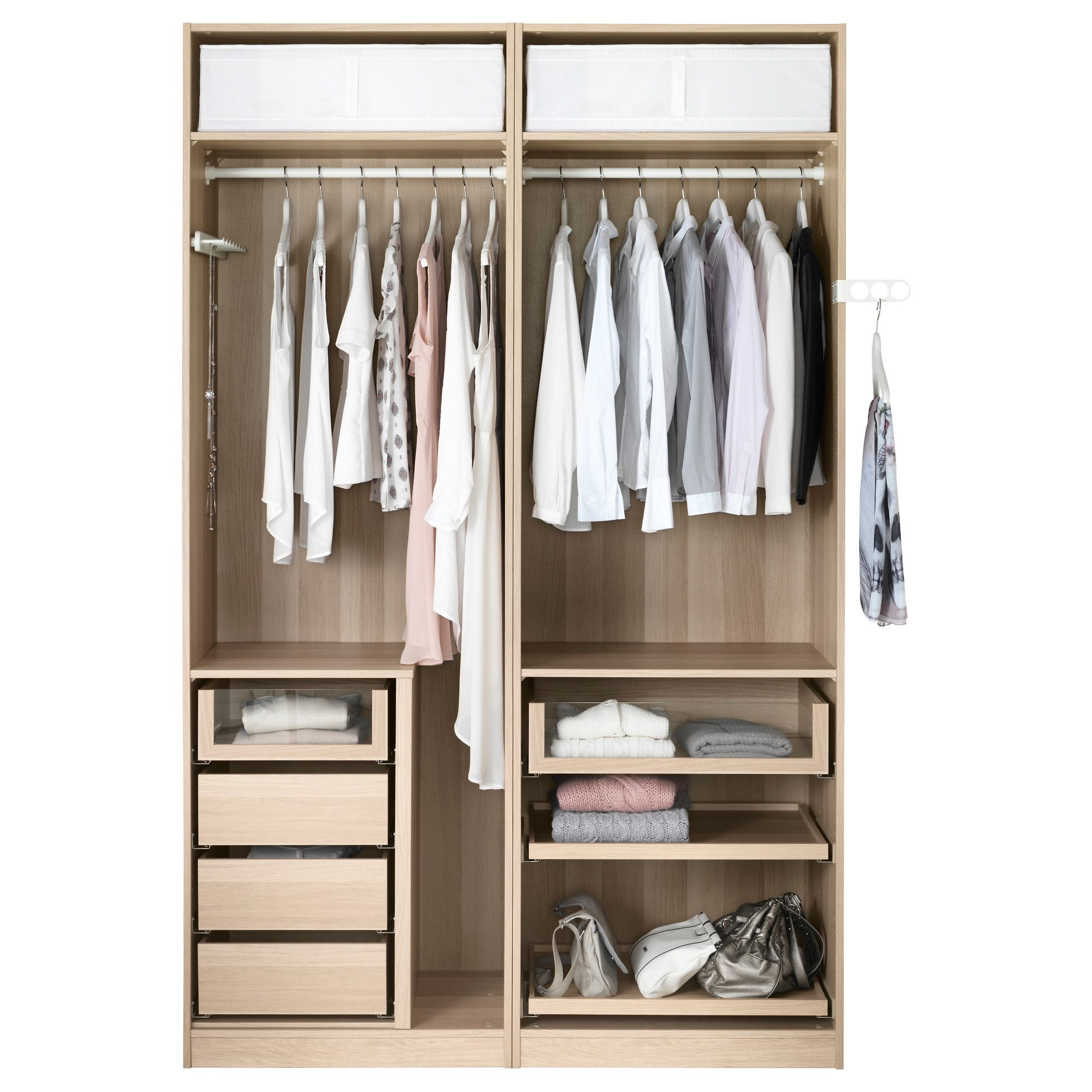 Ikea Pax Wardrobe White Stained Oak Effect Mehamn Closet Layout Closet Designs Ikea Pax Wardrobe