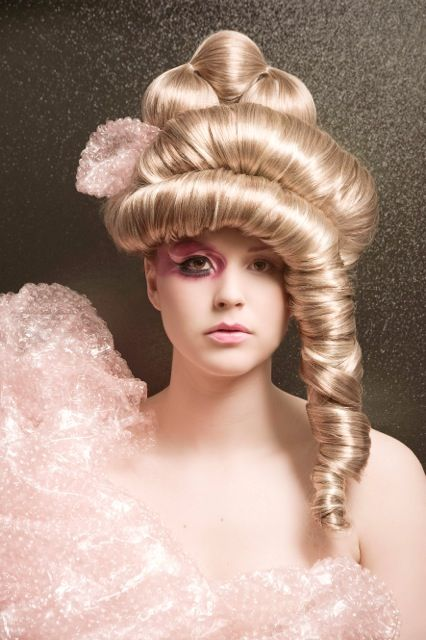 "Okay, maybe not what we would do with hair extensions, but these ""avant garde"" hairstyles are something else! #hairextensions"