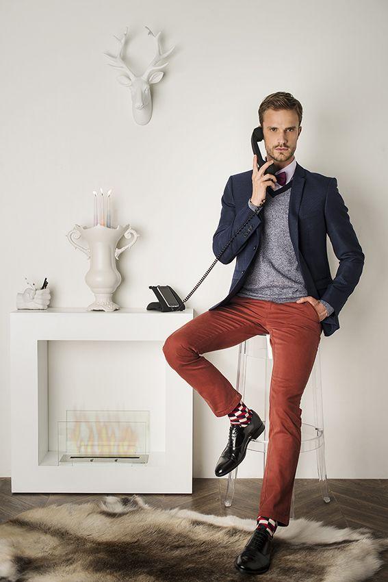 pantalon rouge veste bleue mode homme pinterest. Black Bedroom Furniture Sets. Home Design Ideas