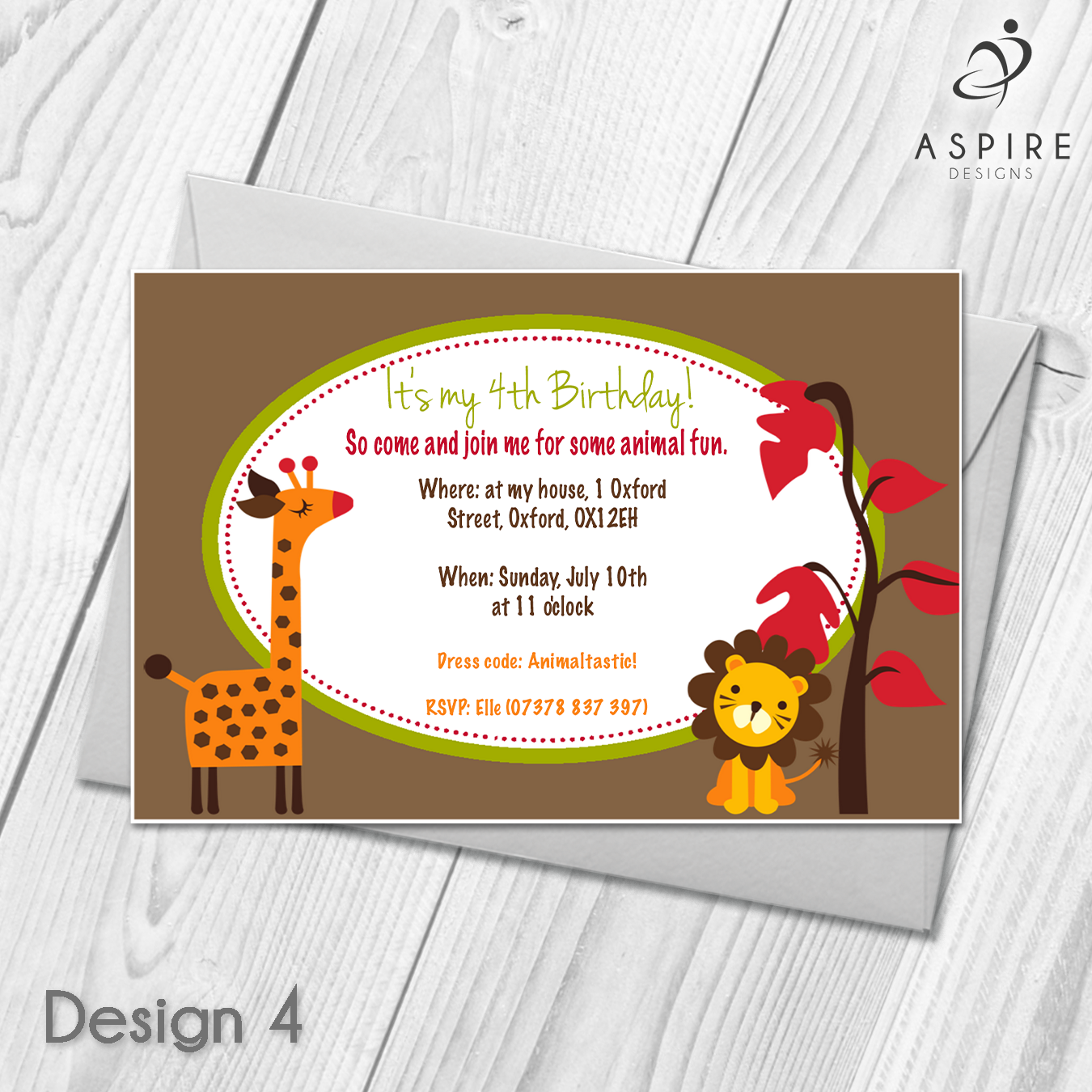 Personalised Animal Zoo Childrens Birthday Party Invitations | Pinterest